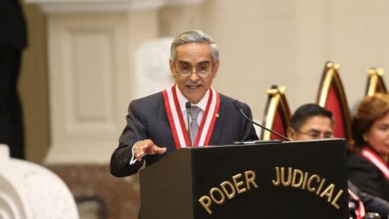 Resultado de imagem para duberli rodíguez, presidente do supremo do peru, renunciante
