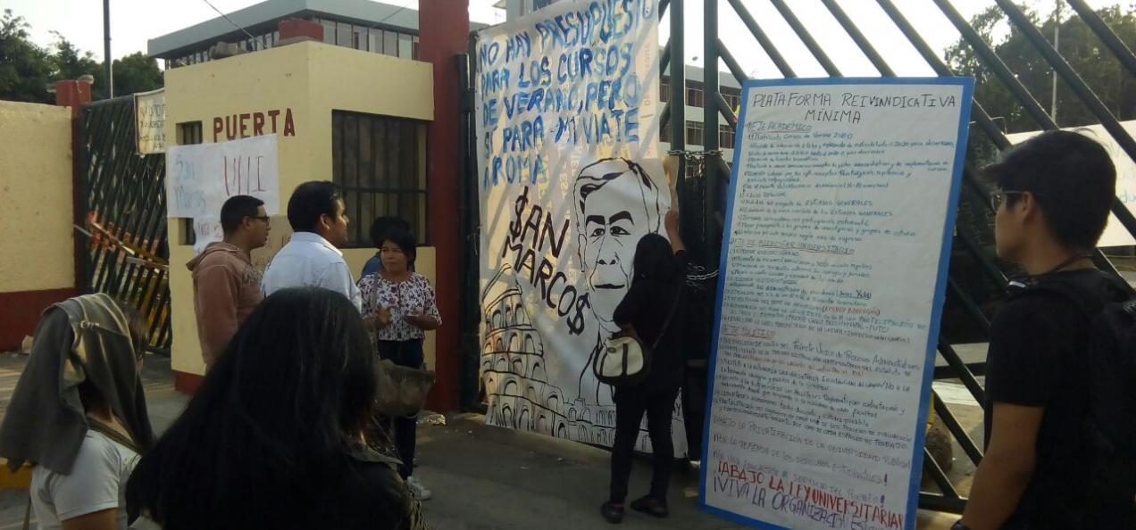 Estudiantes tomaron universidad San Marcos y piden diálogo directo ...